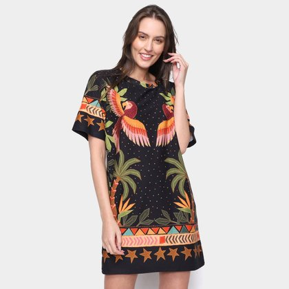 Vestido Farm T-Shirt Ararueiro