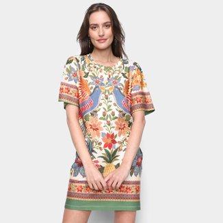 Vestido Farm T-Shirt Flor de Arara