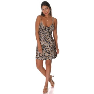 Vestido feminino animal print
