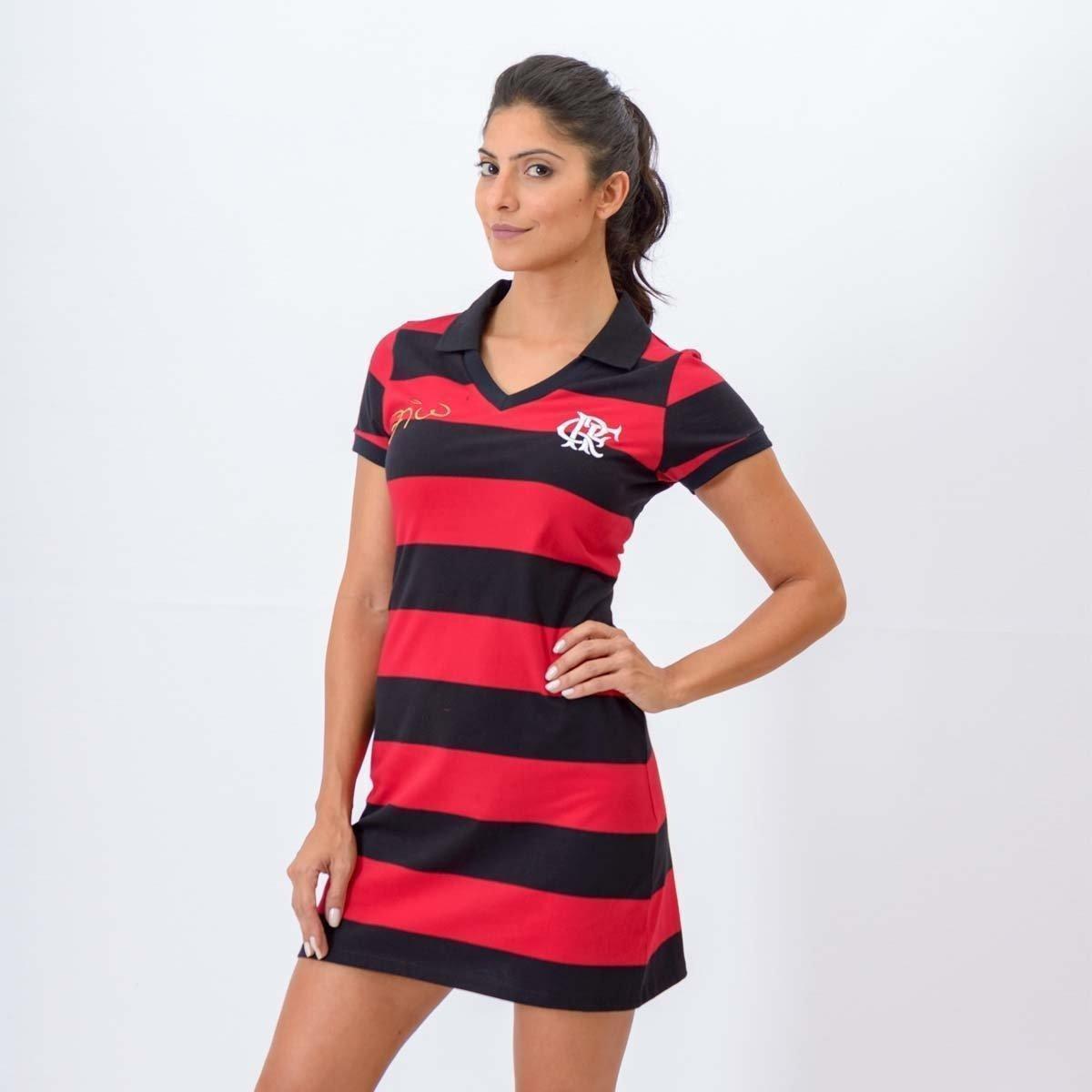 a9f115df71 Vestido Flamengo Milly Braziline - Preto e Vermelho - Compre Agora ...