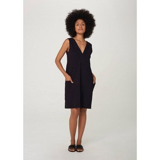 Vestido Hering Malha Texturizada e Bolso Feminino