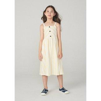 Vestido Hering Midi Infantil Em Malha Atoalhada Feminino
