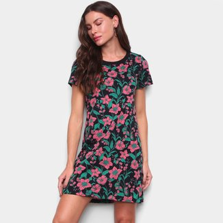 Vestido Hering T-Shirt Estampado Floral