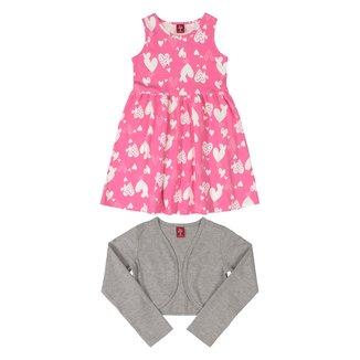 Vestido Infantil Bee Loop Estampado + Bolero