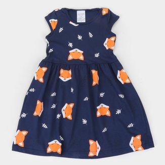 Vestido Infantil Candy Kids Raposa Feminino