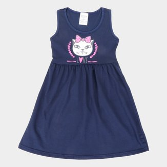 Vestido Infantil Candy Kids Regata Gatinha