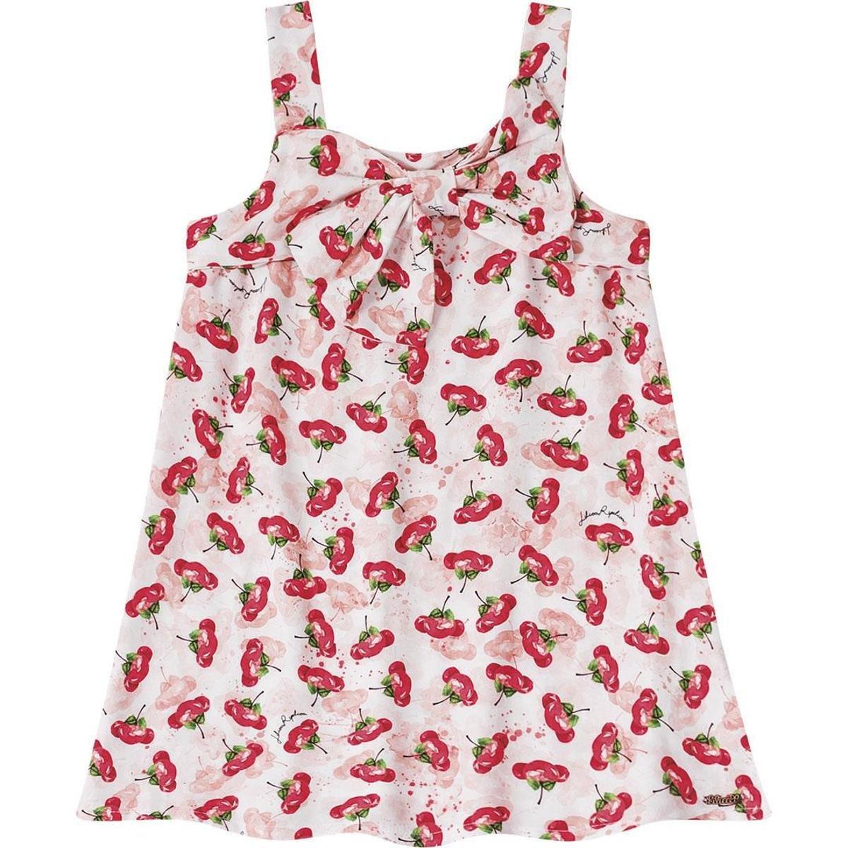98c7d2c8d Vestido Infantil Cerejas Lilica Ripilica - Rosa - Compre Agora   Zattini