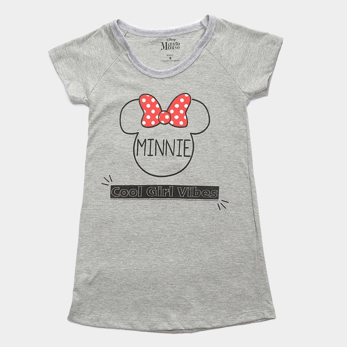 Vestido Infantil Disney Minnie Cool