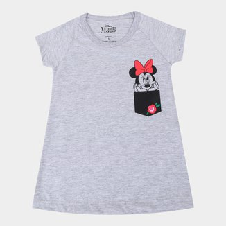 Vestido Infantil Disney Minnie Flower
