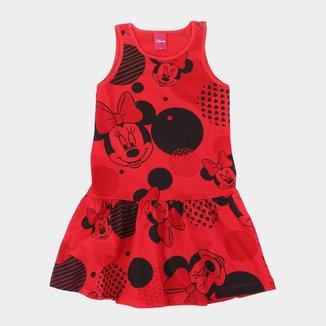 Vestido Infantil Disney Minnie Mouse Poá