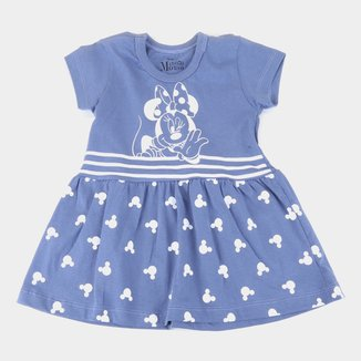 Vestido Infantil Disney Minnie Striped Feminino