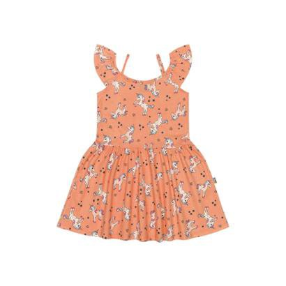 8b65388fc Vestido Infantil Em Malha Bee Loop-Feminino ...