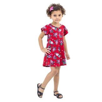 Vestido Infantil Estampado de Flores