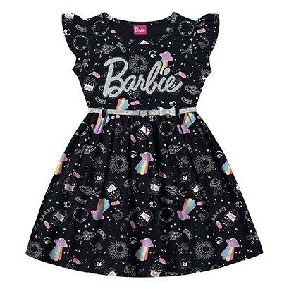 Vestido Infantil Fakini Barbie + Cinto