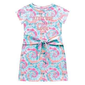 Vestido Infantil Fakini Tie Dye Nó Frontal