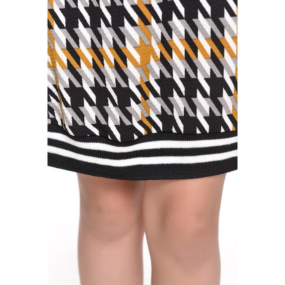 Vestido Infantil Fanyland Punho Feminino - Mostarda