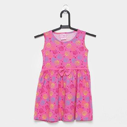 Vestido Infantil For Girl Conchas Laço