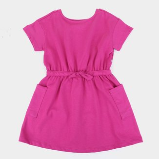 Vestido Infantil Hering Kids Com Bolso