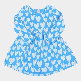 Vestido Infantil Hering Kids Manga Longa Estampado
