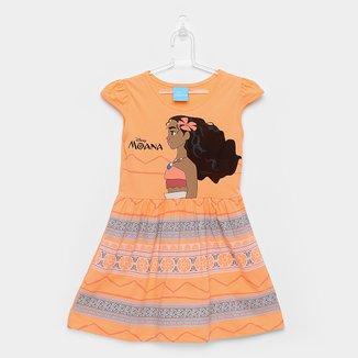Vestido Infantil Kamylus Meia Malha Moana