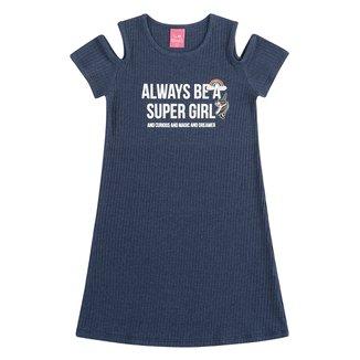 Vestido Infantil Kamylus Super Girl