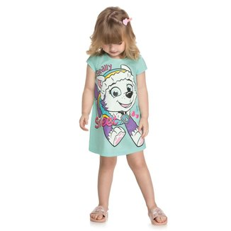 Vestido Infantil Kely & Kety Loungewear Patrulha Canina Everest Feminino