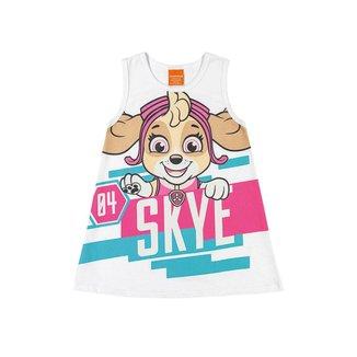 Vestido Infantil Kely & Kety Loungewear Patrulha Canina Skye Feminino