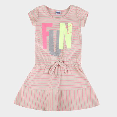 Vestido Infantil Kiko & Kika Fio Tinto Neon