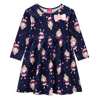 Vestido Infantil Kyly Boneca Manga Longa