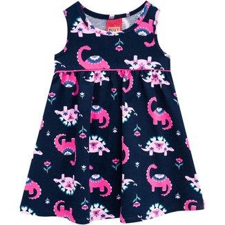 Vestido Infantil Kyly Meia Malha Feminino