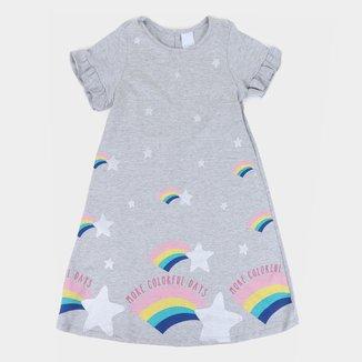 Vestido Infantil Malwee Estampado C/ Babados