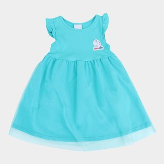 Vestido Infantil Malwee Filó Com Tule Feminino