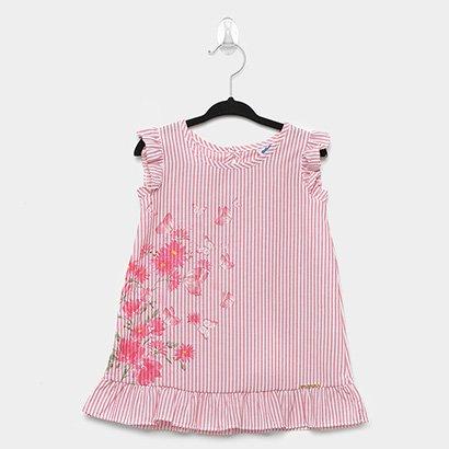 Vestido Infantil Marlan Tricoline Glitter