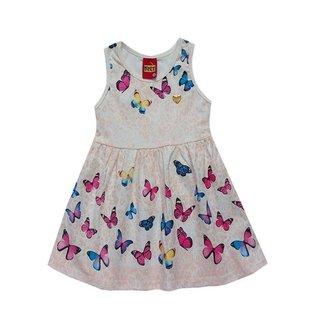Vestido Infantil Menina Com Estampa De Borboletas