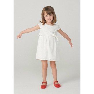 Vestido Infantil Menina Em Tecido De Algodão Com Calcinha Toddler Feminino