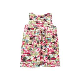Vestido Infantil Menina Flores Rosa – Minitune