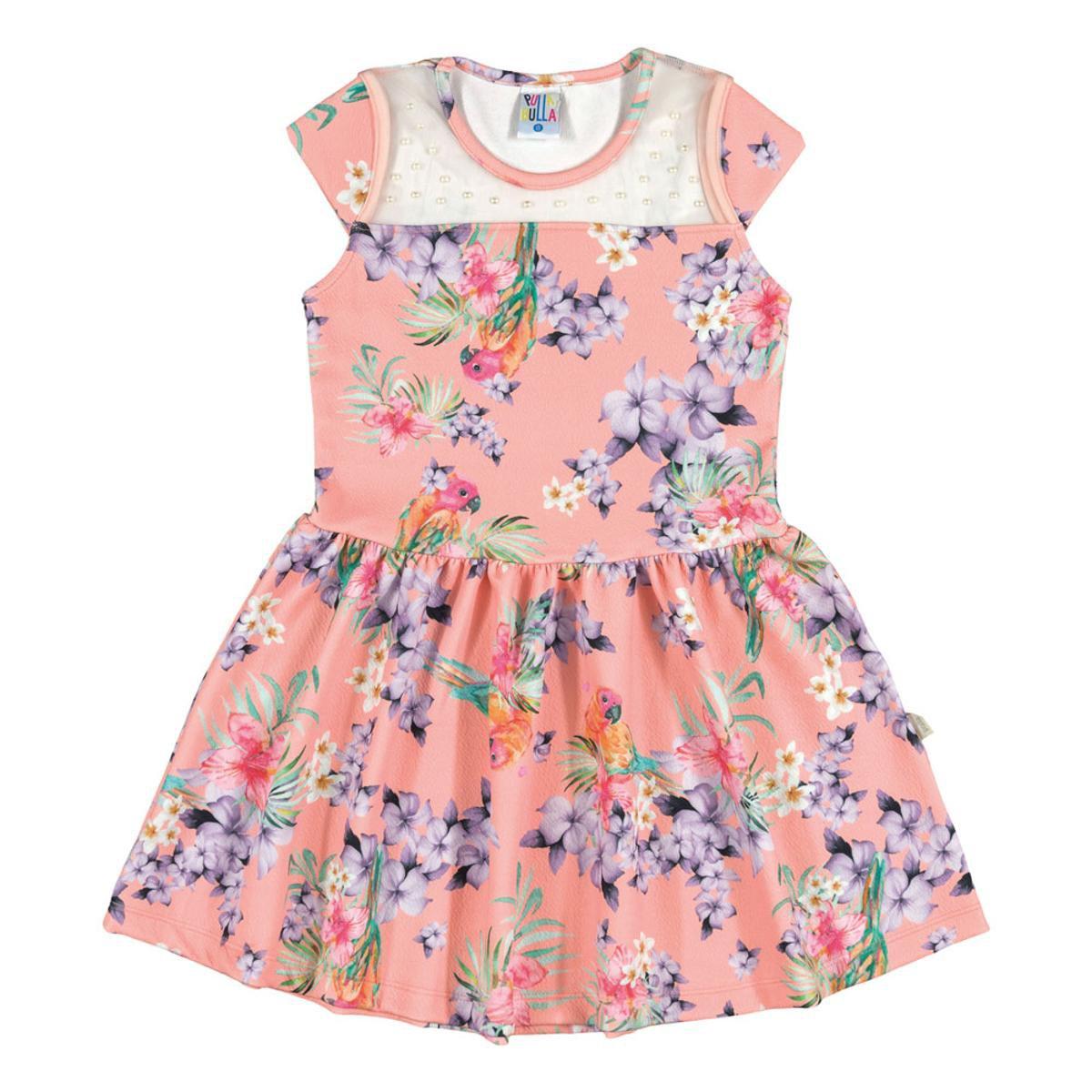 Vestido Infantil Menina Malha - Rosa e Lilás - Compre Agora  6410527e2aba6