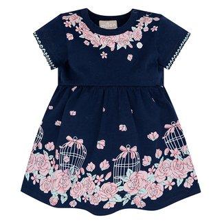 Vestido Infantil Milon Cotton Com Body Interno Floral