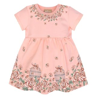 Vestido Infantil Milon Cotton Com Body Interno Floral