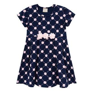 Vestido Infantil Milon Cotton Poá Feminino