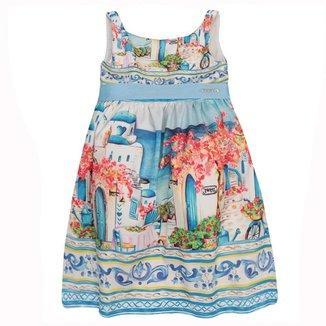 Vestido Infantil Momi Barrado Grecia