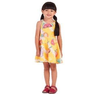 Vestido Infantil Mon Sucré Vegetais