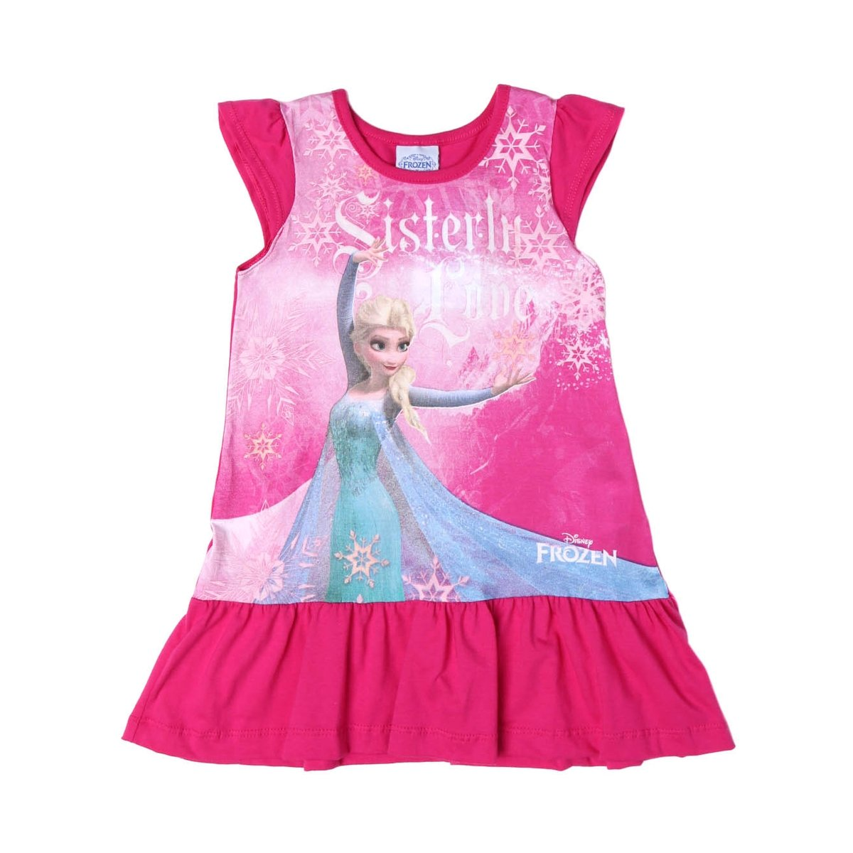 3b416110959c86 Vestido Infantil Para Menina Frozen Rosa pink - Pink