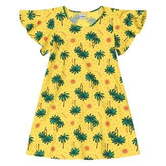 Vestido Infantil Rovitex Meia Malha Estampado Babados