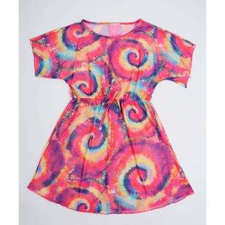 Vestido Infantil Saída De Praia Tie Dye Marisa Tam 4 A 12 - 10047989221