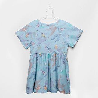 Vestido Infantil Up Baby Peixes