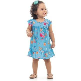Vestido Infantil Verão Flores - Kaiani