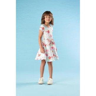 Vestido Infantil Verão Flores - Kiki Xodó