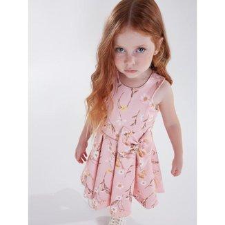 Vestido Infantil Verão Jacquard Flores Tam 1 a 4 - Kiki Xodó