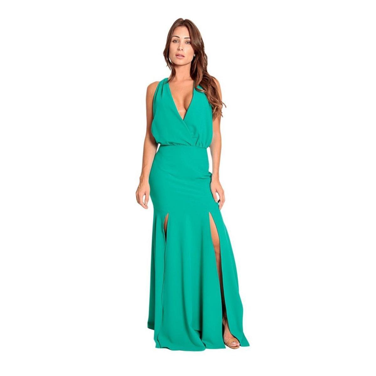Vestido de festa iza d verde